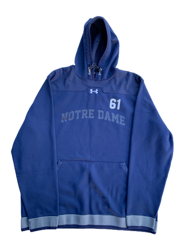 Scott Daly Notre Dame Football Under Armour Sweatshirt With Number (Size XL)