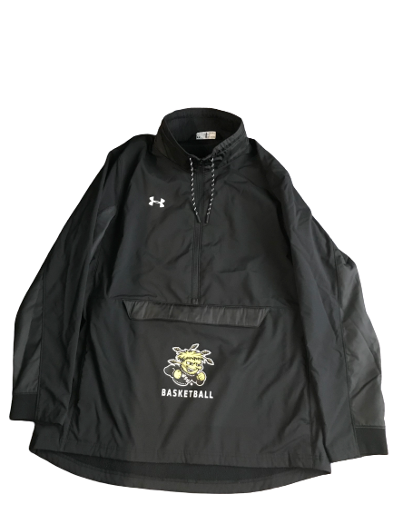 Markis McDuffie Team Issued 1/2 Zip Wichita State Basketball Jacket