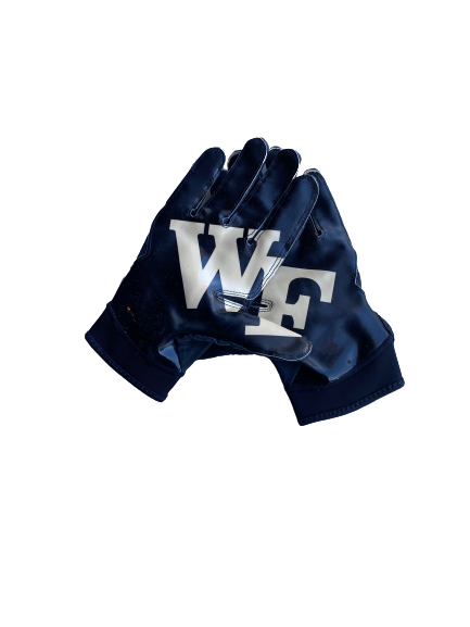 Kendall Hinton Wake Forest SIGNED Game Worn Player Exclusive Gloves (Size XL)
