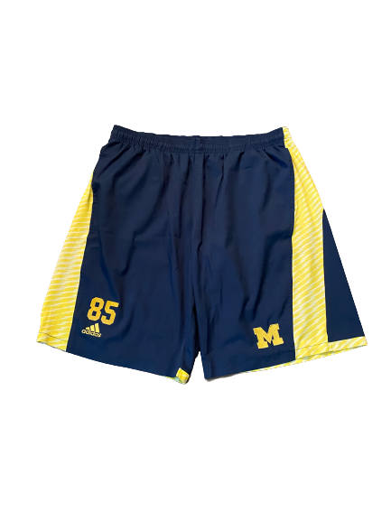 #85 Michigan Football Team Issued Workout Shorts (Size XL)