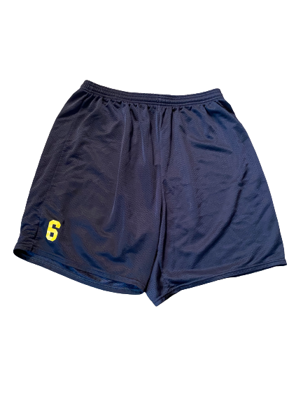 #6 Michigan Football Team Issued Workout Shorts (Size 2XL)
