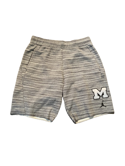 Quinn Nordin Michigan Football Team Issued Sweatshorts (Size M)