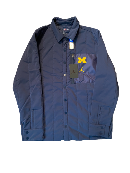 Quinn Nordin Michigan Football Team Issued Button Up Jacket (Size L)