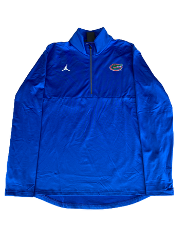 Nick Oelrich Florida Football Team Issued Quarter-Zip Pullover (Size L)