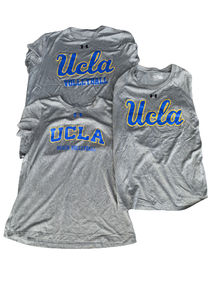 Lily Justine UCLA Set of (3) Workout Shirts (Size M)