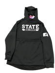 Mitchell Storm Mississippi State Black Adidas Hooded Sweatshirt