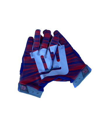 Shane Smith New York Giants Team-Issued Football Gloves (Size XL)