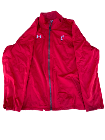 Kendall Calhoun Cincinnati Under Armour Zip-Up Jacket (Size XXXL)