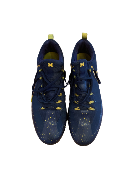 Benjamin St-Juste Michigan Football Player Exclusive Cleats (Size 12)