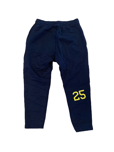 Benjamin St-Juste Michigan Football Team Issued Sweatpants with Number (Size L)