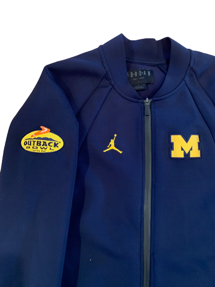 Benjamin St-Juste Michigan Football Outback Bowl Player Exclusive Jacket (Size L)