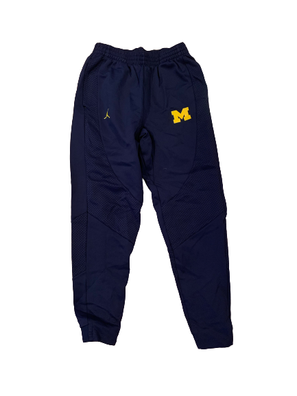 Benjamin St-Juste Michigan Football Team Issued Sweatpants with Number (Size M)