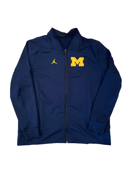 Benjamin St-Juste Michigan Football Team Issued Zip Up Jacket (Size XL)