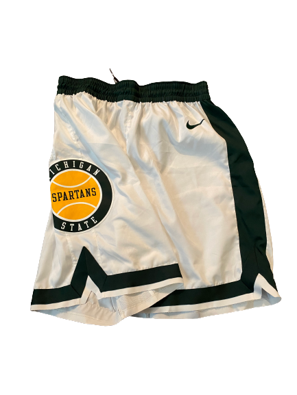 Aaron Henry Michigan State Basketball 2018-2019 Game Worn Shorts (Size M)