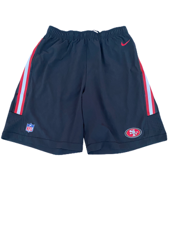Shane Smith San Fransisco 49ers Team-Issued Shorts (Size XL)