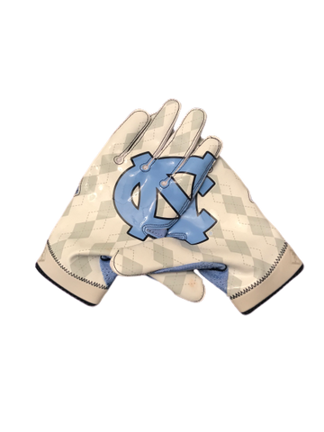 Jake Bargas UNC Nike Game Worn Gloves