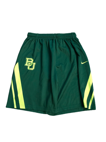 Makai Mason Baylor Team Issued Practice Shorts