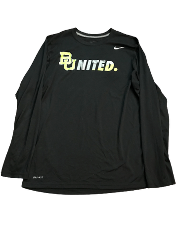 Makai Mason Baylor Team Issued Long Sleeve Warm-Up Shirt