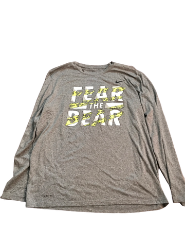 "Makai Mason Baylor Team Issued ""Fear The Bear"" Long Sleeve Shirt"