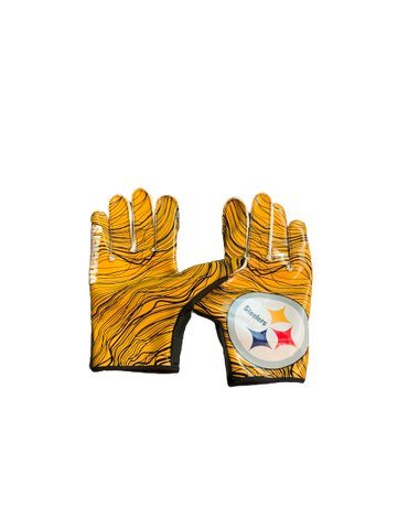 L.J. Scott Pittsburgh Steelers Team Issued Football Gloves