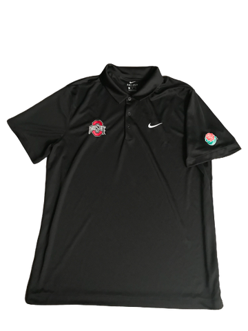 Rashod Berry Ohio State Rose Bowl Nike Polo Shirt (Size XL)