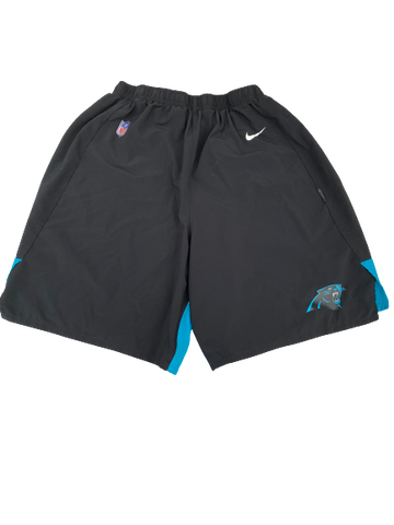 Jalen Jelks Carolina Panthers Team-Issued Shorts (Size XXL)