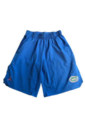 Jacob Tilghman Florida Football Jordan Pre-Game Warm Up Shorts 2018-2019 Season (Size L)