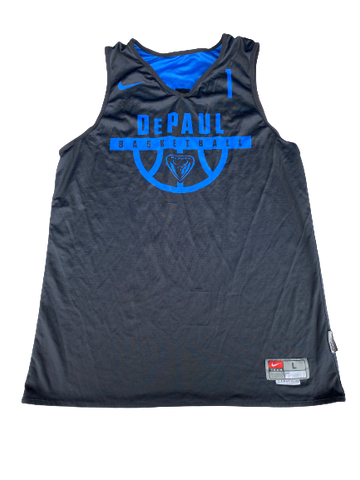 #1 DePaul Basketball Reversible Practice Jersey - Given to Eli Cain (Size L)