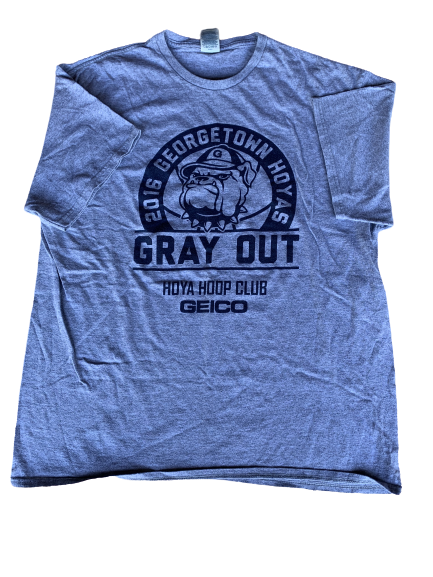 "Isaac Copeland Georgetown ""Gray Out"" T-Shirt (Size XL)"