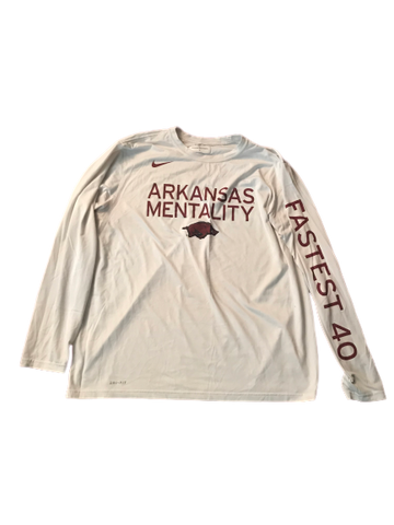 Adrio Bailey Arkansas Mentality Nike Long Sleeve Shirt (Size XXL)