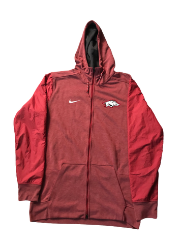 Adrio Bailey Arkansas Nike Full-Zip Jacket With Hood (Size LT)
