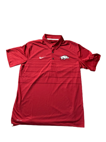 Adrio Bailey Arkansas Nike Polo Shirt (Size L)