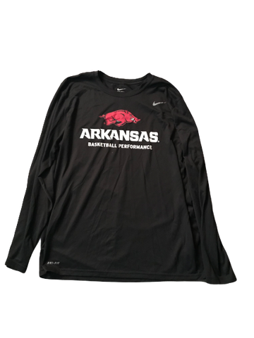 Adrio Bailey Arkansas Basketball Performance Nike Long Sleeve Shirt