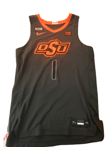 Jonathan Laurent Oklahoma State 2019-2020 Game Worn Jersey