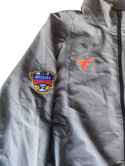 Jerrod Heard Texas Nike Sugar Bowl Zip-Up Jacket (Size L)