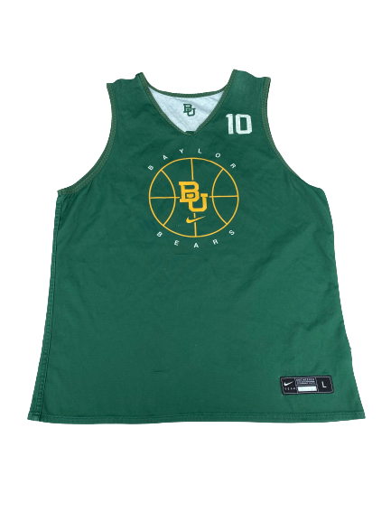 #10 Baylor Basketball Player Exclusive Reversible Practice Jersey (Size L)