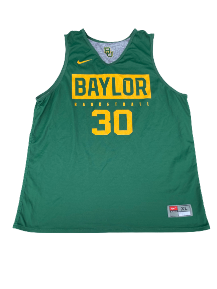#30 Baylor Basketball Player Exclusive Reversible Practice Jersey (Size XL)