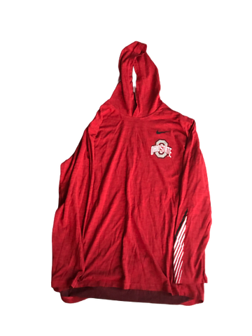 Rashod Berry Ohio State Team Issued Nike Hooded Sweatshirt (Size XL)