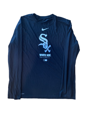 Adam Engel Chicago White Sox Team Issued Long Sleeve Shirt (Size L)