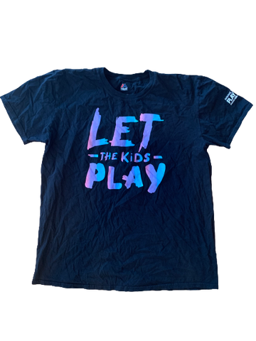 "Adam Engel Chicago White Sox Team Issued ""Let The Kids Play"" T-Shirt (Size XL)"
