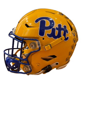 D.J. Turner Pittsburgh Football Season Worn Football Helmet