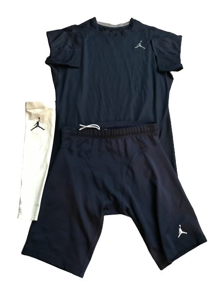 Tyrone Wheatley Jr. Jordan Compression Set (Shirt, Shorts, Arm Sleeve)