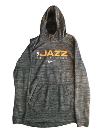 Trevon Bluiett Utah Jazz Team Issued Hooded Sweatshirt (Size LT)