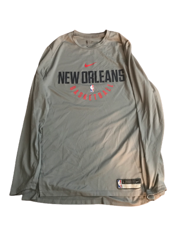 Trevon Bluiett New Orleans Pelicans Team Issued Long Sleeve Shirt (Size L)
