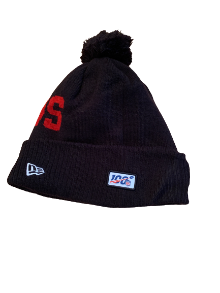 Sean Harlow Atlanta Falcons Team Issued Beanie Hat with Number