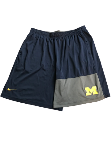 Tyrone Wheatley Jr. Michigan Nike Shorts (Size XXL)