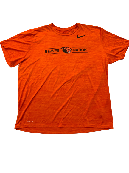 Sean Harlow Oregon State Football Team Issued Workout Shirt (Size XXXL)