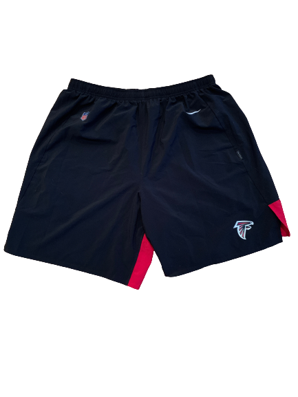 Sean Harlow Atlanta Falcons Team Issued Workout Shorts (Size XXXL)