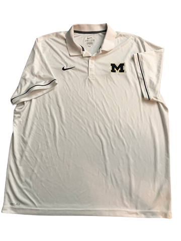 Tyrone Wheatley Jr. Michigan Nike Polo Shirt (Size XXXL)