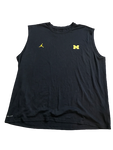 Tyrone Wheatley Jr. Michigan Team Issued Jordan Tank Top with #17 on back (Size XXL)